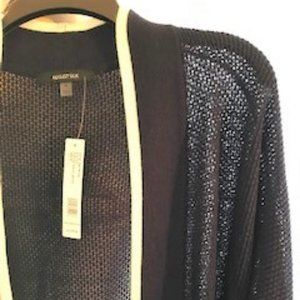 August Silk Open Weave sweater